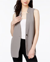 Bar III Illusion-Back Blazer Vest, Created for Macy's