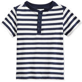 First Impressions Baby Boys' Striped Henley T-Shirt, Only at Macy's