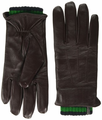 Scotch & Soda Men's Double-layered Leather And Knitted Gloves