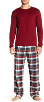 Calvin Klein Long Sleeve Knit Tee & Logo Waistband PJ Pant Set
