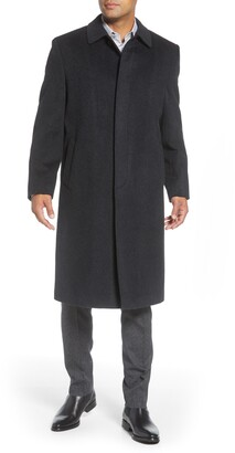 Hart Schaffner Marx Stanley Classic Fit Wool & Cashmere Overcoat