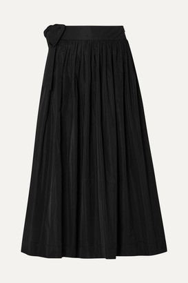 Molly Goddard So Hee Tie-detailed Gathered Taffeta Midi Skirt - Black