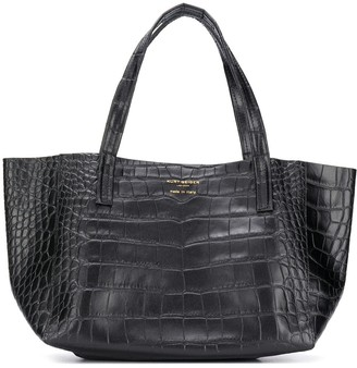 Kurt Geiger Crocodile Embossed Tote Bag