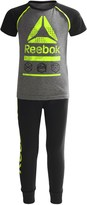Reebok Icon Shirt and Joggers Set - 2-Piece, Short Sleeve (For Little Boys)
