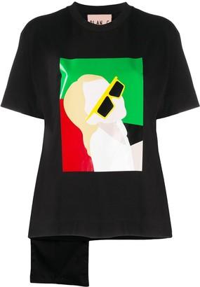 Plan C colour-block print T-shirt
