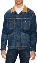 Tom Ford Men's Corduroy Collar Denim Jacket