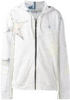 Faith Connexion Star Laced zipped hoodie