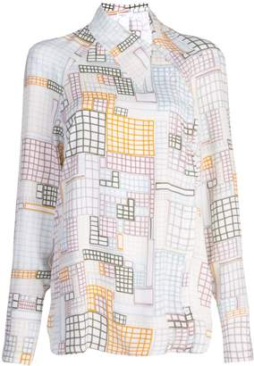 Rosetta Getty geometric print shirt