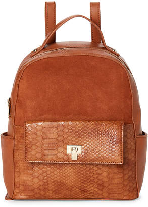 Moda Luxe Tan Reilley Croc Backpack