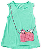 Jessica Simpson Big Girls 7-16 Purse-Graphic High-Low Tank Top