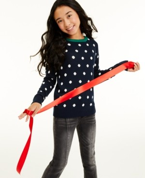 Charter Club Big Girls Dot Sweater, Created for Macy's