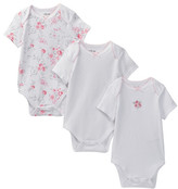 Little Me Rose Swirl Bodysuit - Pack of 3 (Baby Girls)