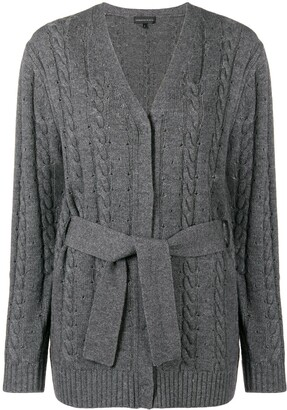 Cashmere In Love Cashmere Blend Cable Knit Cardigan