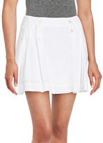 Free People Button-Accented Mini Skirt