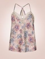 Marks and Spencer Silk & Lace Print Swing Camisole