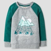 Cat & Jack Toddler Boys' Sweatshirt Heather Grey Mountain - Cat & Jack