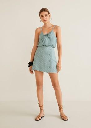 MANGO Linen miniskirt