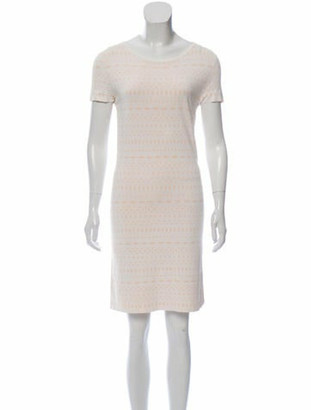 Alaia Abstract Print Mini Dress pink