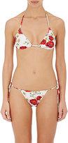 Dolce & Gabbana Women's Floral Halter Bikini Top-RED, WHITE