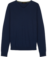 Jaeger Merino Wool V-neck Jumper
