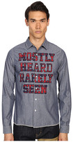 Mostly Heard Rarely Seen Chambray Shirt with Logo Merrow Stitch