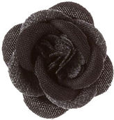 hook + ALBERT Mother-Of-Pearl Herringbone Pattern Lapel Flower