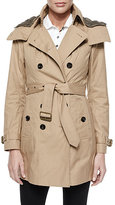 Burberry Hooded Canvas Trench Coat
