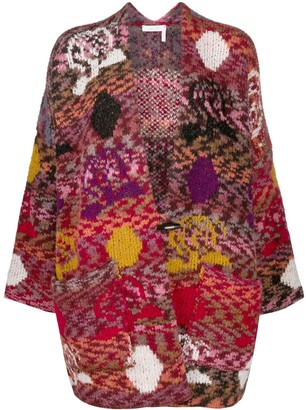 See by Chloe Colour-Block Patchwork Cardigan