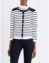 Claudie Pierlot Martin striped cotton cardigan