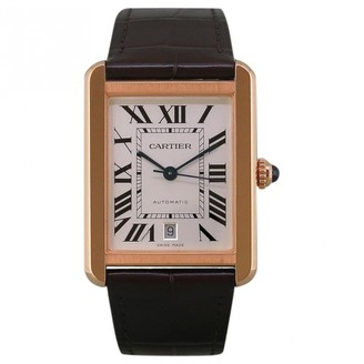 Cartier Tank Solo White Pink gold Watches