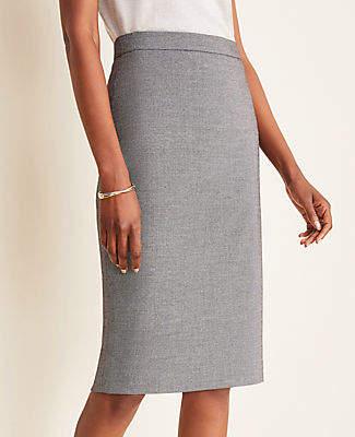 Ann Taylor The Petite Pencil Skirt in Birdseye