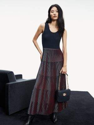 Tommy Hilfiger Colour-Blocked Maxi Dress