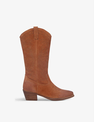 Bertie Taffy western-style suede knee-high boots