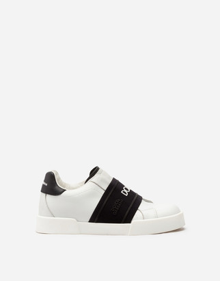 Dolce & Gabbana Portofino Light Sneakers With Elastic Rubber Logo