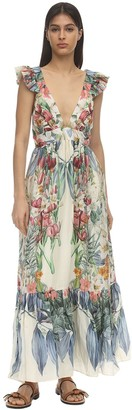 Carolina K. Penelope Printed Silk Maxi Dress