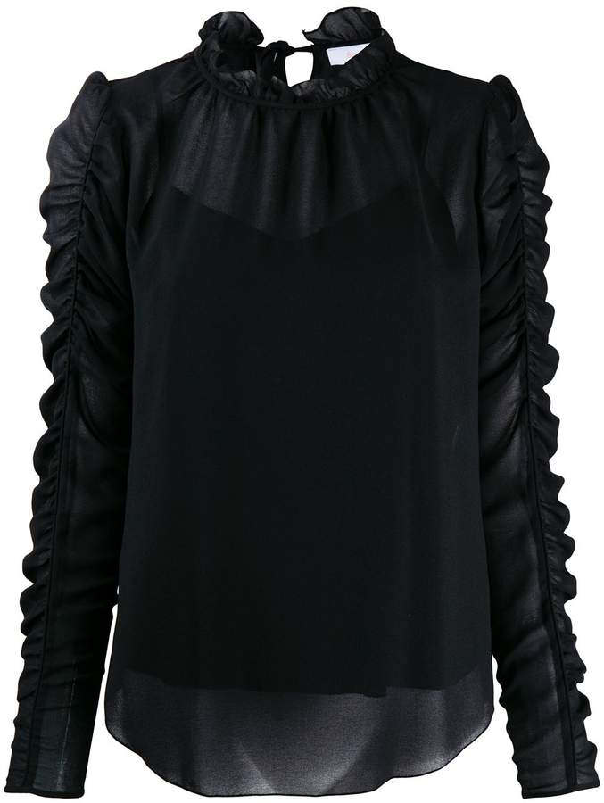See by Chloe gathered sleeve blouse
