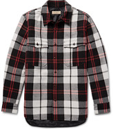 Burberry - Quilted Checked Wool-blend Overshirt
