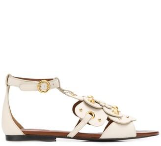 See by Chloe Stud-Embellished Floral Sandals