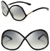 Tom Ford Ivanna Round Oversized Sunglasses, 64mm