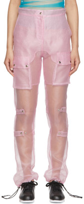 Supriya Lele Pink Organza Utility Trousers