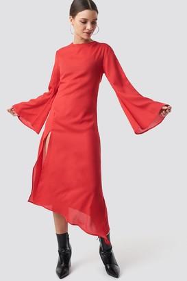 NA-KD High Slit Asymmetric Midi Dress