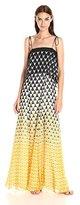Twelfth Street By Cynthia Vincent Women's Ruffled Maxi Dress