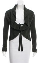 Valentino Virgin Wool Cable Knit Cardigan