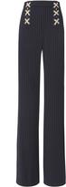 Veronica Beard Quinn Lace-Up Wide Leg Pants
