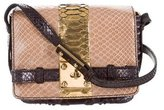 Zagliani Python Crossbody Bag