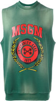 MSGM sleeveless printed sweatshirt - men - Cotton - S
