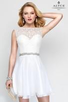Alyce Paris - 3687 Short Dress In Diamond White