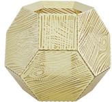 Tom Dixon Etch Wood Effect Tealight Holder - Brass