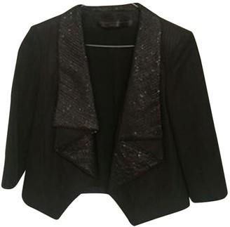 Francesco Scognamiglio Black Glitter Jacket for Women