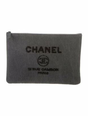 Chanel Large Deauville O-Case Grey